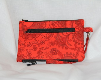 Magic Pouch in Red Paisley