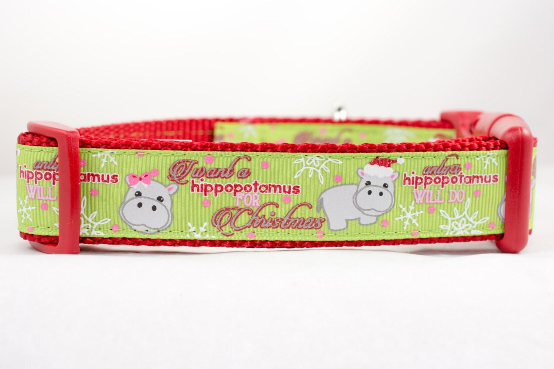 Nilpferd für Weihnachten Hundehalsband 1 Zoll breit | Etsy