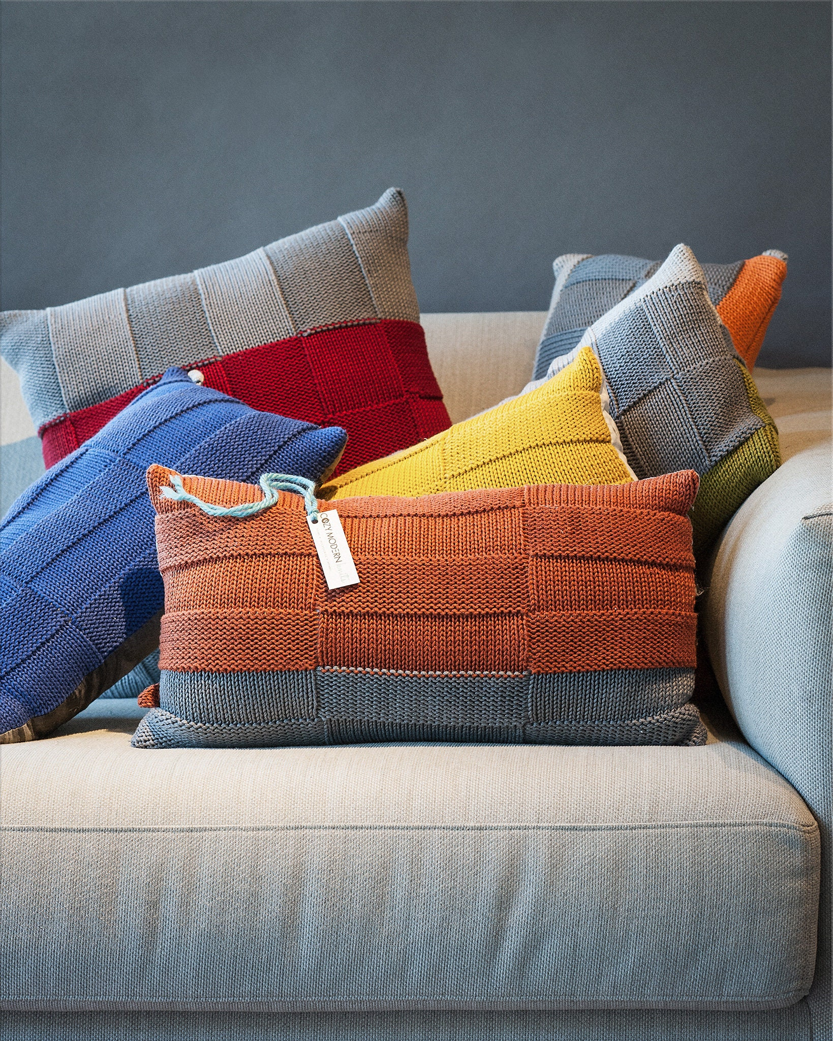 cozy throw pillow 100 cottonreversible modern color  etsy