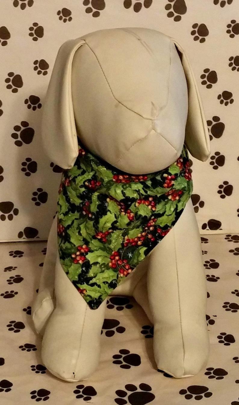 Winter holly Holly Dog Bandana Christmas