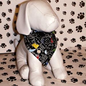 scissors back to school globe school supplies September Dog Bandana Fall