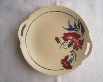 French Luneville china platter, fruit dish, c1910.  Vintage French Art Nouveau piece.