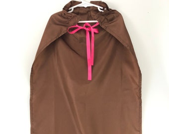 Ready to Ship - Child's Brown Satin Cape