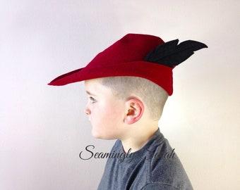 f6eb74c82e9 Child s Felt Prince Hat - Black or White Feather
