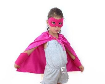 Caped Costumers Child/'s Pink Superhero Mask Ice Tween