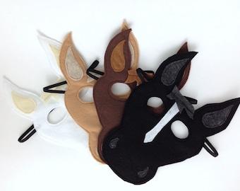 Child's Felt Horse Mask - FOUR COLORS AVAILABLE