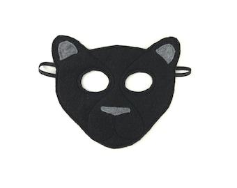 Child's Felt Black Panther Mask