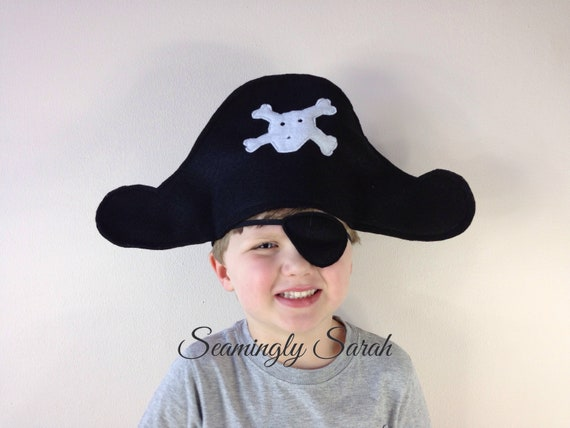 KIDS PIRATE BEARD CAPTAIN JACK WITH FREE EYE PATCH !