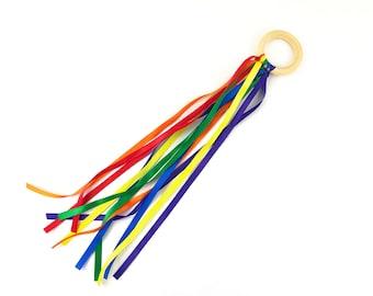Children's Rainbow Ribbon Hand Kite