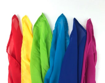 Children's Mini Play Silk Rainbow Set - set of 6 colors