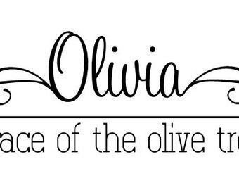 Custom Name Decal And Though She Be But Little She Is Etsy