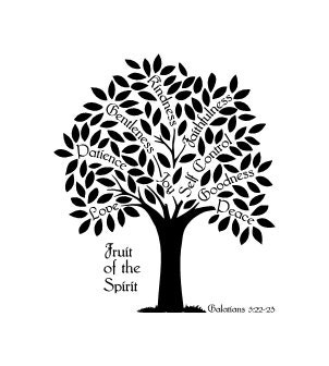 Fruit Of The Spirit Tree Galatians 5 Vinyl Wall Decal Etsy