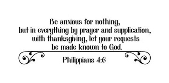 Be anxious for nothing but in everything by prayer and | Etsy
