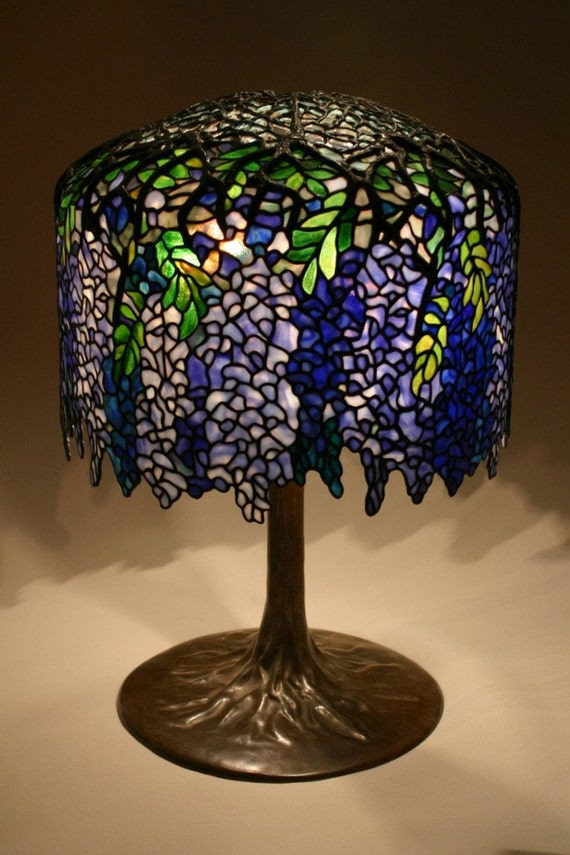 Items Similar To Tiffany Wisteria Lamp Reproduction On Etsy