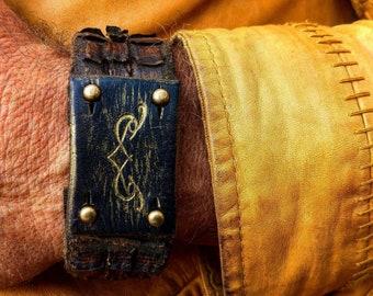 Men's Bracelet, Men's Leather Bracelet, Bracelet for Men, Leather Cuff, Men's Cuff Bracelet, Brown Leather, Genuine Leather, Wrap Bracelet