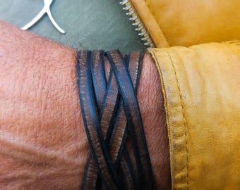 Bracelet for Men, Leather Cuff, Men's Cuff Bracelet, Brown Leather, Genuine Leather, Men's Bracelet, Men's Leather Bracelet, Wrap Bracelet