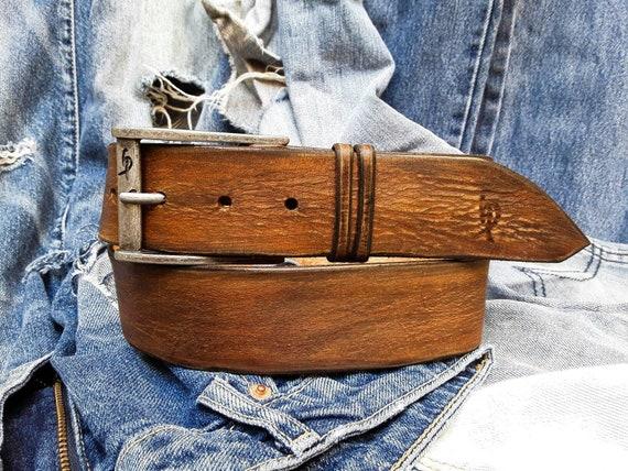 Artisan cuir boucle de ceinture Design pour hommes mode en   Etsy 120e2733e63