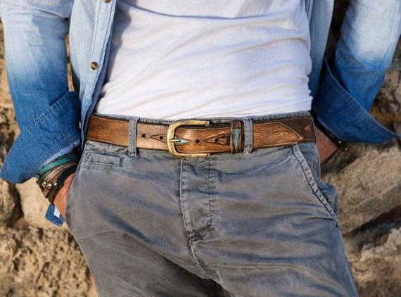 Accessoires de mode pour hommes fait main en cuir pour homme   Etsy 7f8f81e02a5