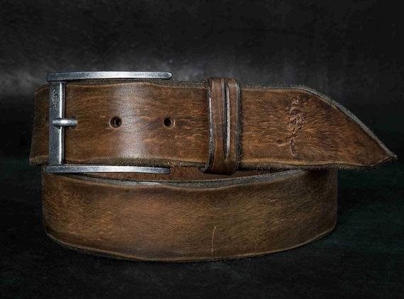 Mode en cuir ceinture marron ceinture pour homme Style   Etsy b555b9db073