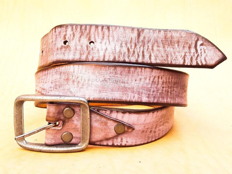 Pink Belt Men/'s Belt Gift for her.Woman gift woman Leather Belt Leather Belt with Buckle Custom Leather Genuine Leather Belt for Him