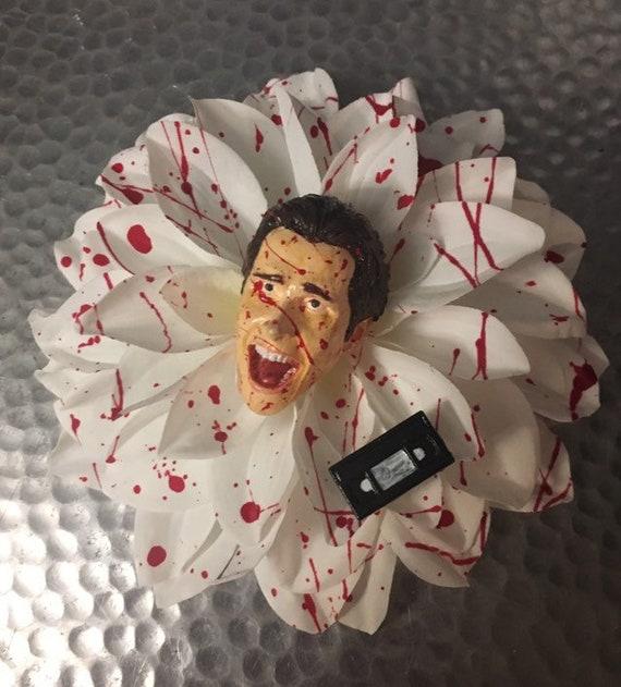 Patrick Bateman Bloody Hair Flower