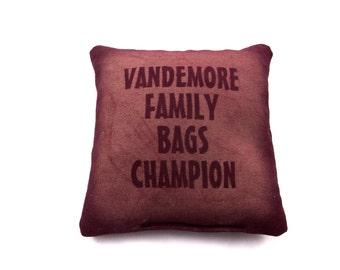 Custom Made Personalized Cornhole Bags Baggo Bragging Rights Trophy Bag