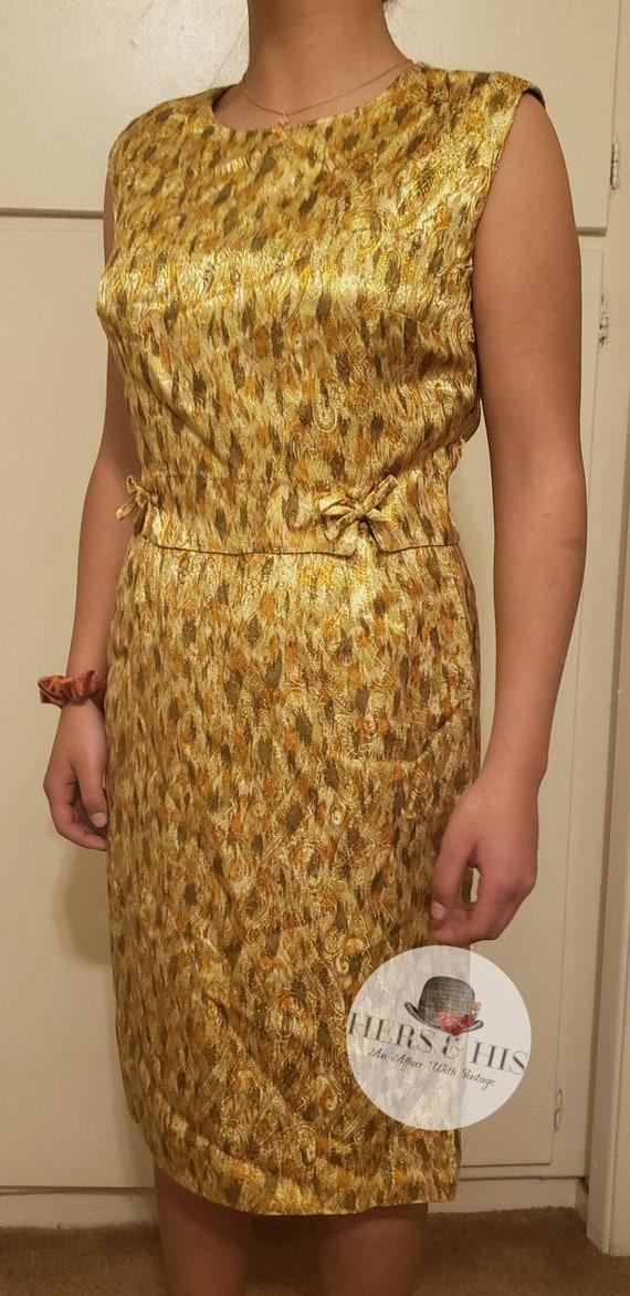 Vintage golden wiggle dress