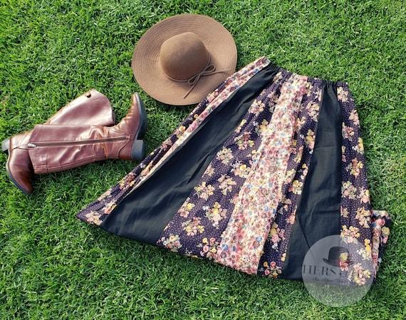 Vintage prairie panel skirt