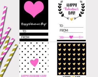 Printable Valentines Cards, Kid's Valentinness, School Valentines, Valentine's Day Cards, Girl's Valentine's, Valentines for kids, Digital