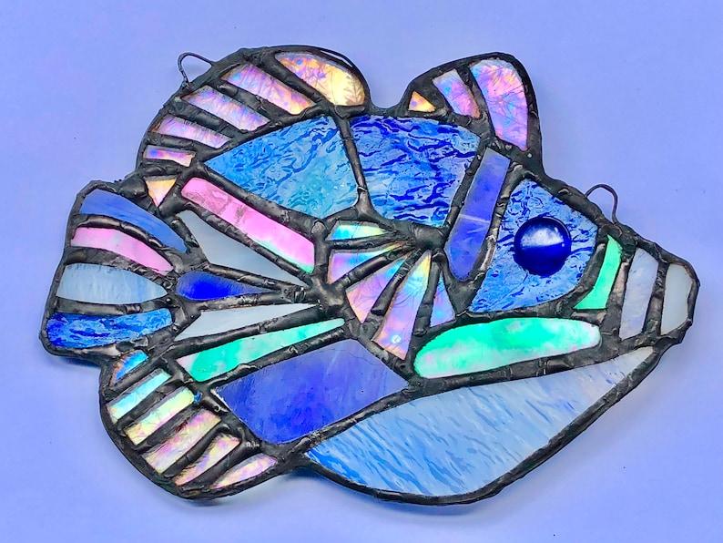 Stained Glass Tropical Fish ART of HAWAII Hawaiian Angelfish image 0