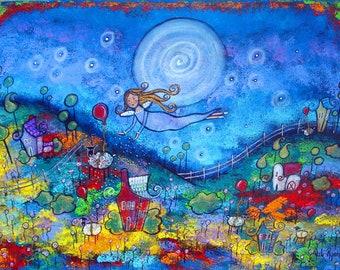 The Sleep Fairy Art Print from my Original Children's Book, three sizes!