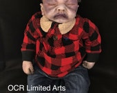 Repaint Reborn Horror Zbaby 20 inches silicone Vinyl Cloth Baby Doll ooak creepy cute collectible Repaint Zombie Undead Halloween Horror