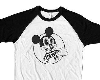 Mickey Muerto Unisex Adult Raglan