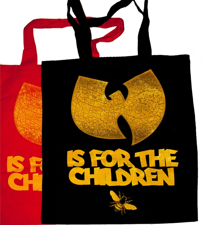 wu tang is for the children tote image 0