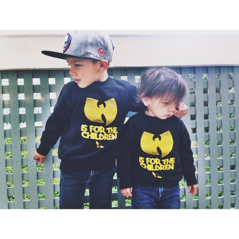 wutang is for the children toddler crewneck sweater. image 0