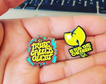 """A Tribe Called Quest and Wu-tang  Soft Enamel Lapel Pins 1"""""""