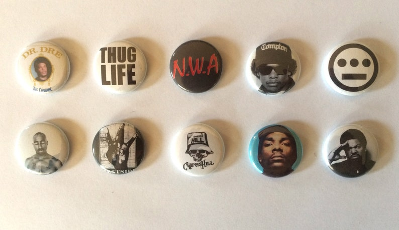 WestCoast HipHop Pinback Buttons image 0