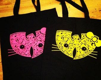 wu-kitty tote bag