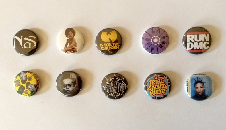 East Coast Hiphop 1 Pinback Buttons image 0