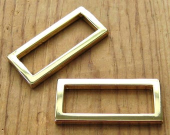 "24K Gold Plated D Rings 1.5"" Rectangle Purse Hardware - Set of 2"