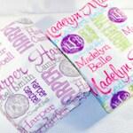 Personalized Throw Blanket, Monogrammed Throw Blanket, Custom Name Blanket, Personalized Wedding Gift, Teacher Coaches Gift, Birthday Photo