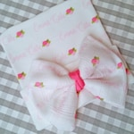 Personalized Newborn Baby Hat Hospital Hat Coming Home Outfit Personalized Baby Bow Hat
