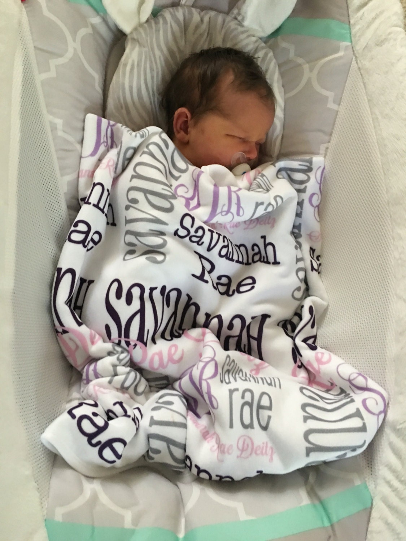 Personalized Baby Blanket Monogrammed Baby Blanket Name | Etsy