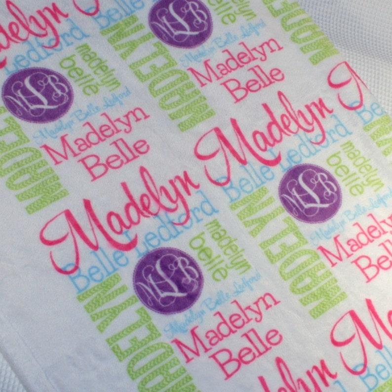 Personalized Throw Blanket Monogrammed Throw Blanket Custom image 0