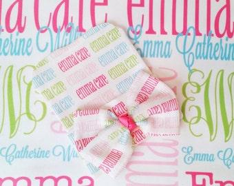 Personalized Baby Blanket Newborn Hat Set Baby Name Blanket Newborn Hospital Hat Baby Bow Hat Monogrammed Baby Gift