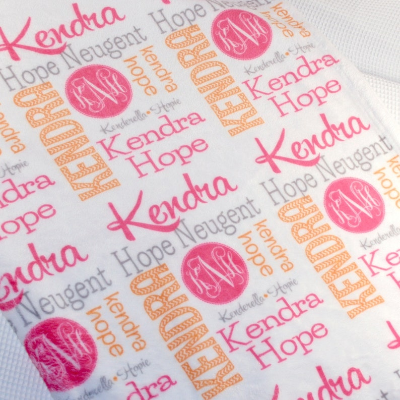 Personalized Name Throw Blanket Monogrammed Throw Blanket image 0