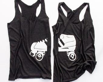 Roller Derby Wives Tank Pair || Roller Girl || Roller Derby Tank ||  Roller Derby Clothing || Roller Derby Shirt || Roller Derby Wife