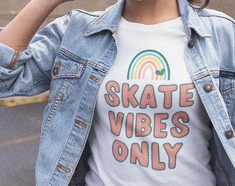 Roller Skate Shirt | Roller Derby Tshirt | Skate Vibes Only Tee