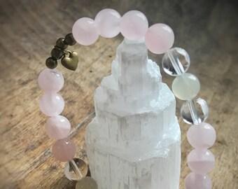 Love & compassion beaded bracelet