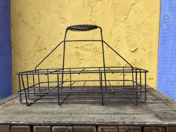 vintage milk bottle carrier, 8 quart bottle size